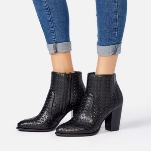 JustFab Western Style Black Boots